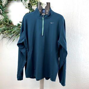 Nike Men's Aqua Quarter Zip Running Pullover Top